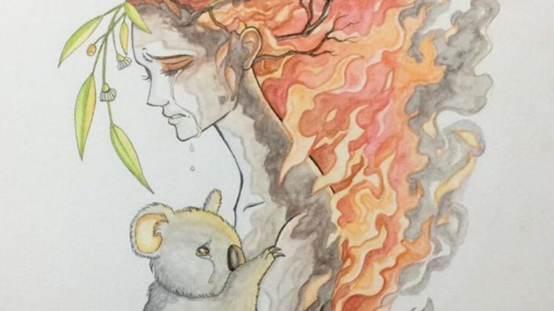 Melina Illustrates Australian Bushfires
